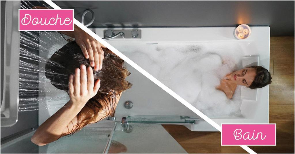 Duo 2 en 1 douche et baignoire